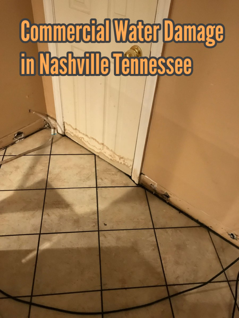 Commercial Water Damage in Nashville Tennessee